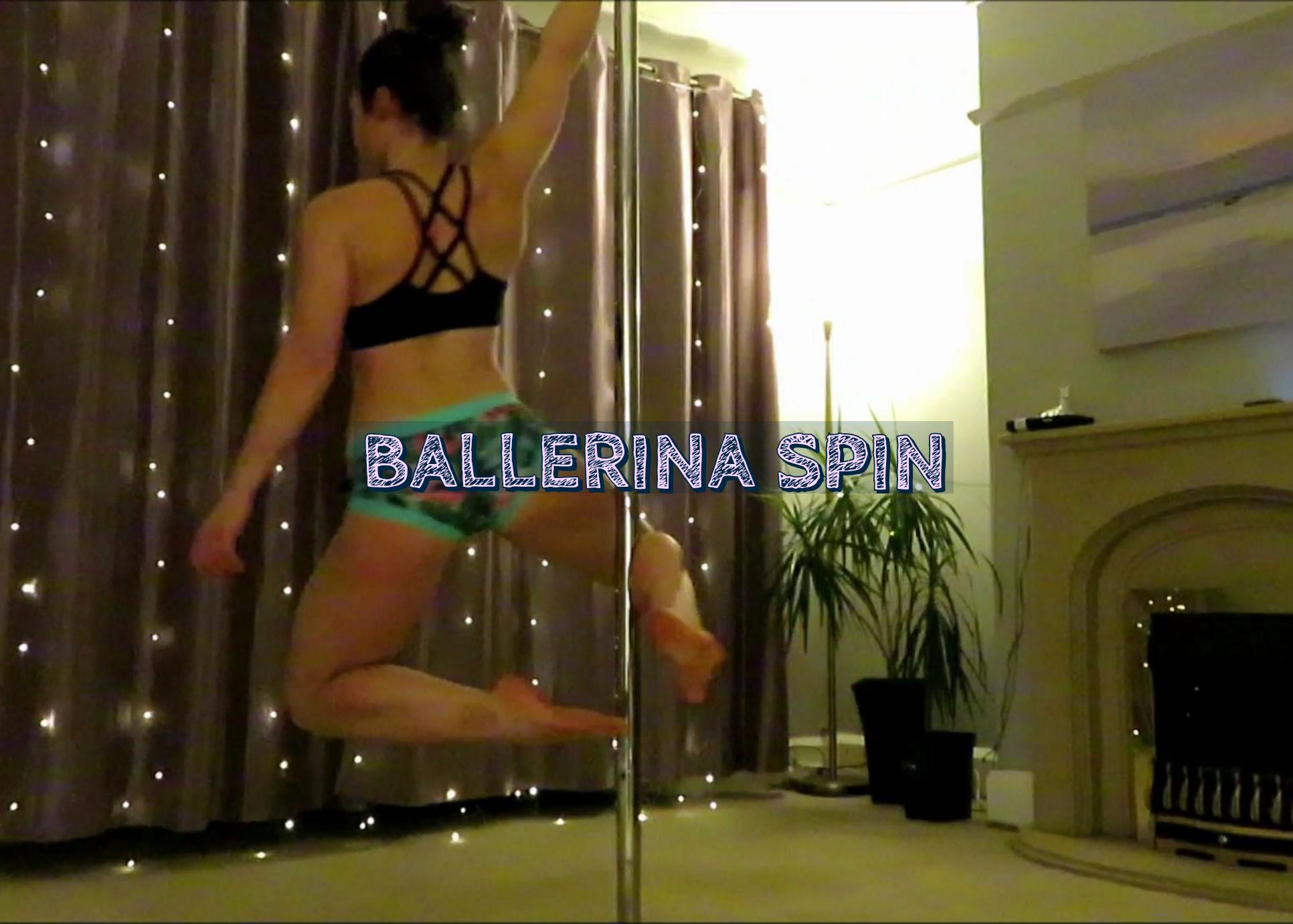 Ballerina spin pole dance